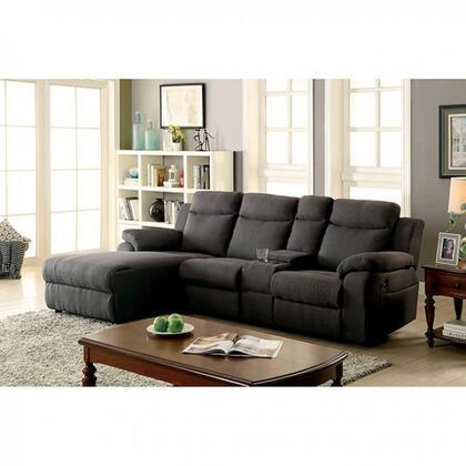 Furniture of America Kamryn Fabric Sectional Sofa CM6771GYSECTIONAL ...