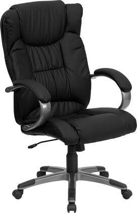 """Flash Furniture 31"""" Executive Chair with Pneumatic Seat Height Adjustment, Dual Wheel Casters, Swivels 360 Degrees, Titanium Nylon Base and LeatherSoft Upholstery"""