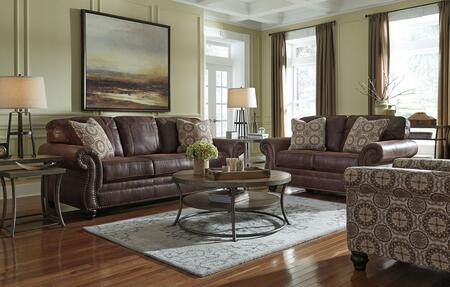 Milo Italia MI5559SFSET3PC2BRN Catherine Living Room Sets