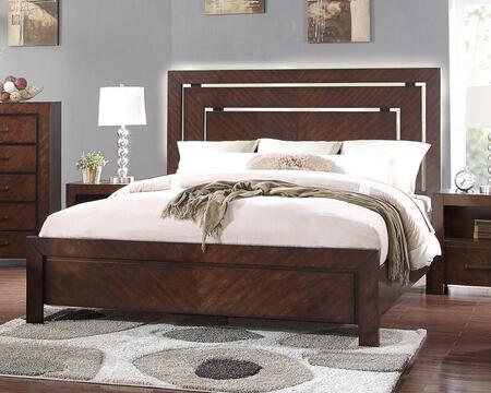 Legends Furniture City Lights Collection ZCTL-700BED Panel Bed in Walnut Finish