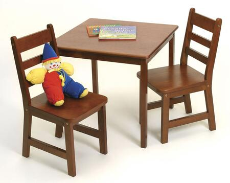 Lipper Kids 514X Square Table and 2 Chairs Set