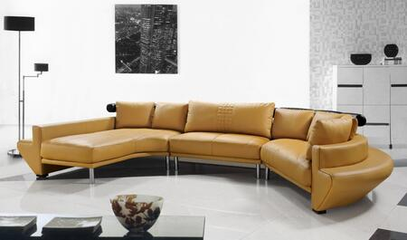 VIG Furniture VG2T0510MHL Divani Casa Jupiter Ultra Series Stationary Leather Sofa