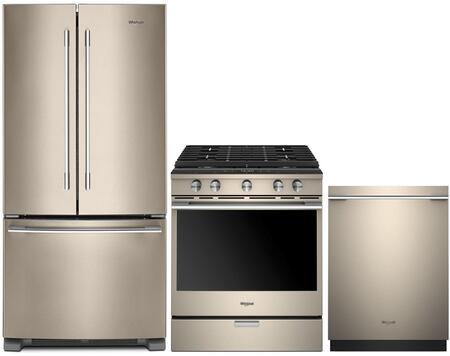 Whirlpool 942413 3 Piece Sunset Bronze Kitchen Appliances Package