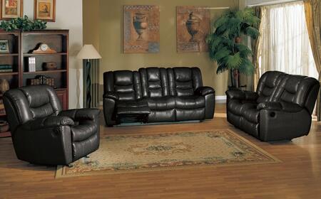 Yuan Tai FR4400BKSET3 Leather Living Room Set
