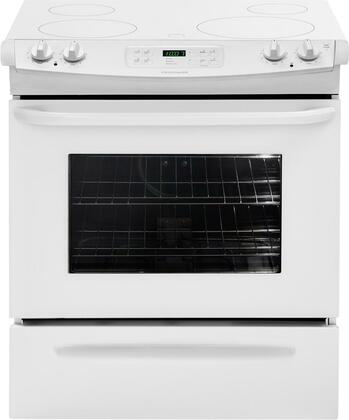 "Frigidaire FFES3025LW 30"" Slide-in Electric Range with Smoothtop Cooktop Storage 4.2 cu. ft. Primary Oven Capacity"