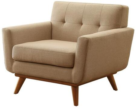 EdgeMod EM227WALTAU Mari Series Polyester Lounge with Wood Frame in Taupe