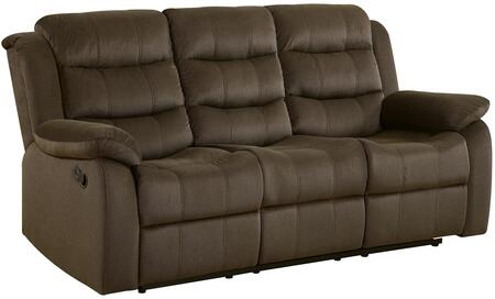 Coaster 601881 Rodman Series Reclining Velvet Sofa