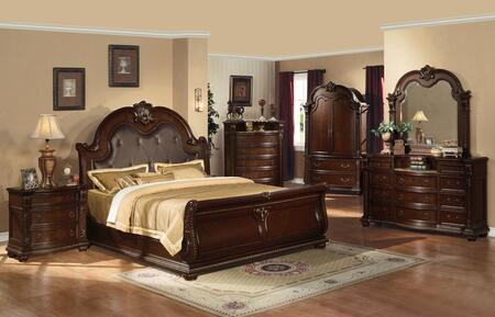 Acme Furniture Anondale 6 Piece King Size Bedroom Set