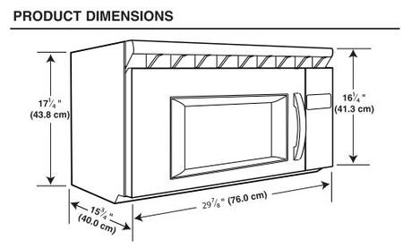 Over The Range Microwave Dimensions Bestmicrowave
