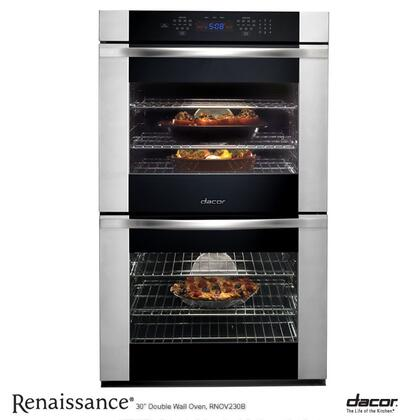 """Dacor RNOV227B 27"""" Wall Oven, in Black Glass with Vertical Stainless Steel Trim"""