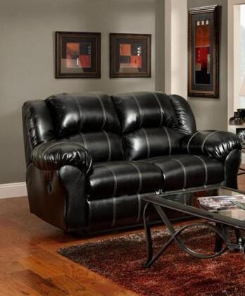 Chelsea Home Furniture 1002TB Verona IV Series Bonded Leather Reclining with Wood Frame Loveseat