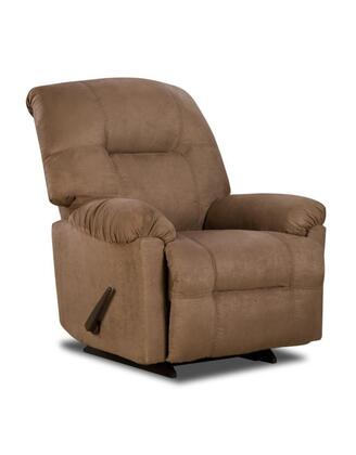 Chelsea Home Furniture 1893502600 Wyoming Series Transitional Calcutta Camel Wood Frame  Recliners