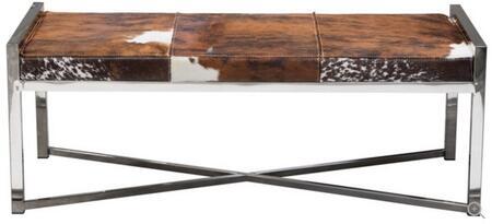 Diamond Sofa MYSTIQUEBEBR Mystique Series Accent Armless Metal Fabric Bench