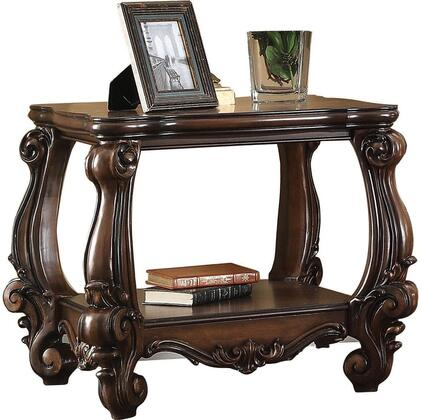 Acme Furniture 82121 Versailles Series Traditional Wood Square None Drawers End Table