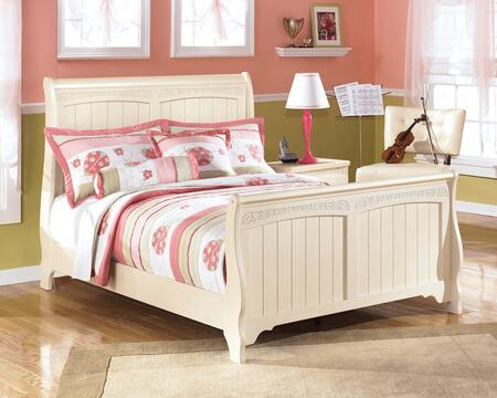 Milo Italia BR-303SLEIGHBED Burton Collection X Size Sleigh Bed: Cream