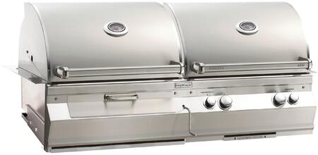 """FireMagic A830I5EAXCB Aurora 55"""" Built-In Combo Grill with E-Burners, Charcoal Ignitor, and Analog Thermometer"""