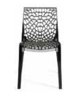 VIG Furniture VGIGGRUVYERGRY Modrest Gruvyer Series Modern Not Upholstered Polyblend Frame Dining Room Chair