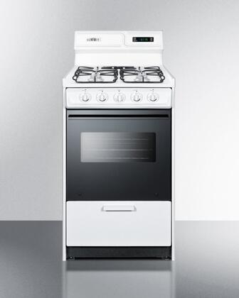 "Summit WNM1307DFK 20""  White Gas Freestanding Range with Coil Element Cooktop, 2.46 cu. ft. Primary Oven Capacity, Oven"