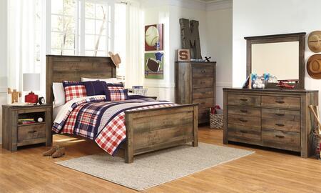 Signature Design by Ashley Trinell Bedroom Set B446FPBDM2NC