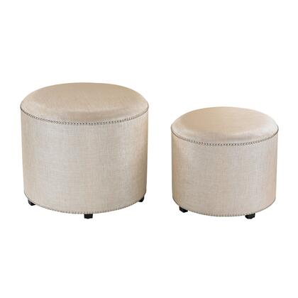 Sterling 180006S2 Ottoman Series Transitional Fabric Wood Frame Ottoman