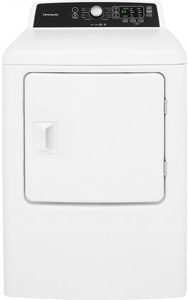 "Frigidaire FFRx4120SW 27"" Front Load Dryer with 10 Dry Cycles, 6.7 cu. ft. Capacity, 4 Temperature Selections, Quick Dry Cycle, Moisture Sensor, and Anti Wrinkle Option, in White"