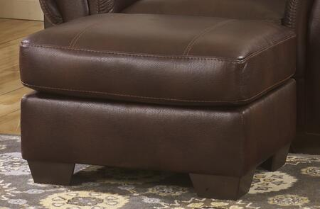 Benchcraft 4980X14 Vevinia Ottoman with Plump Graining and Two-Toned Effects, Tapered Feet and Jumbo Stitched Details in