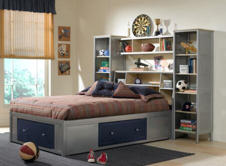 Hillsdale Furniture 1178472STGWP Brayden Series  Full Size Bookcase Bed