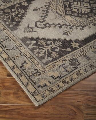 "Signature Design by Ashley Dallan R40001 "" x "" Size Rug with Persian Diamond Design, Hand-Tufted, 9mm Pile Height and Wood Material Backed with Cotton Canvas in Grey Color"
