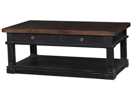Bramble 23857 Black Distressed Transitional Table