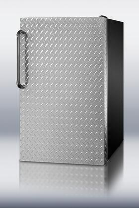 Summit CM421BLXBIDPLADA  Stainless Steel Compact Refrigerator with 4.1 cu. ft. Capacity