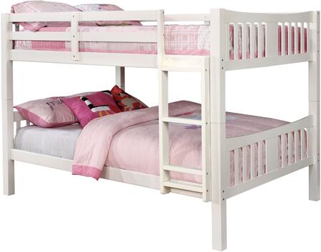 Furniture of America CMBK929FWHBED Cameron Series  Full Size Bunk Bed