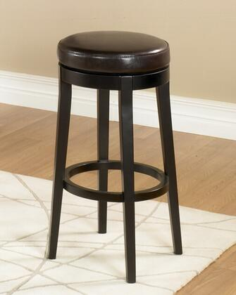 "Armen Living LC450BAX26 Mbs-450 26"" Backless Swivel Bar stool with 360 Degree Swiveling Mechanism, Solid Espresso Wood Legs and Leather Finish in"