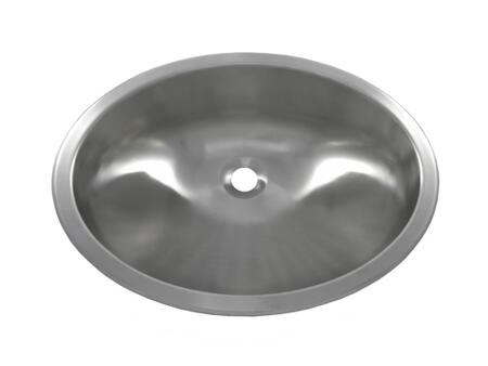 Opella 17186046 Stainless Steel, Brushed Oval Sink