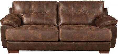 """Jackson Furniture Drummond Collection 4296-03- 97"""" Sofa with Block Feet, Tufted Cushions and Padded Polyester Fabric in"""