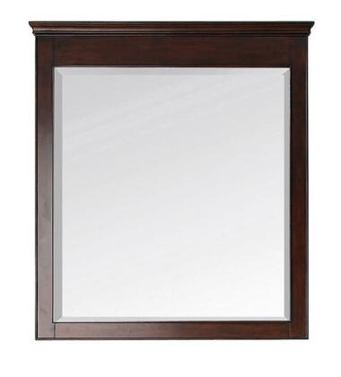 "Avanity Windsor WINDSOR-M34 34"" Mirror Hangs Vertically with a Durable Birch Wood Frame, Beveled-Edge, and Wood Cleat for Easy Hanging & Leveling in"