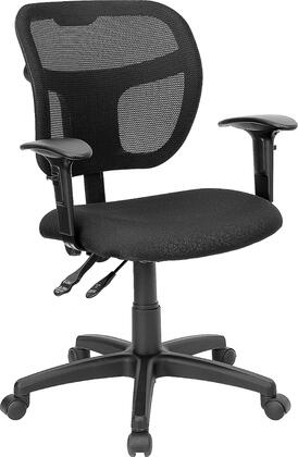 "Flash Furniture WL-A7671SYG-XX-A-GG 17.5"" Mid-Back Mesh Task Chair with 3"" Thick Foam Padded Seat, Built-In Lumbar Support, Pneumatic Seat Height Adjustment, and Heavy Duty Nylon Base"