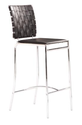 Zuo 33306 Criss Cross Collection Counter Stool in