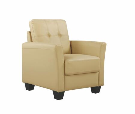 Glory Furniture G576C G570 Series Faux Leather Armchair in Beige