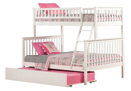 Atlantic Furniture AB5625 Woodland Bunk Bed Twin Over Full With Urban Trundle Bed