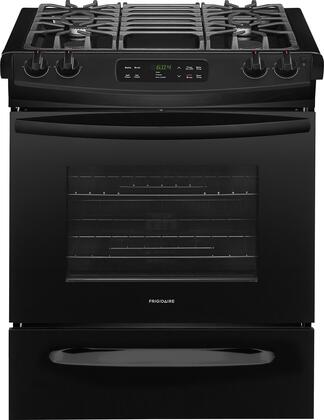 "Frigidaire FFGS3026T 30"" ADA Compliant Slide In Gas Range with 4.5 cu. ft. Capacity, 4 Sealed Burners, Self-Clean Function, 2 Racks, and 12 Hour Auto Shut-Off, in"
