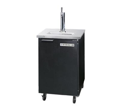 "Beverage-Air DD36-1 36"" One Section Direct Draw Beer Dispenser with Swing Solid Door, 8.8 cu.ft. Capacity, [Black] Exterior and Side Mounted Compressor"