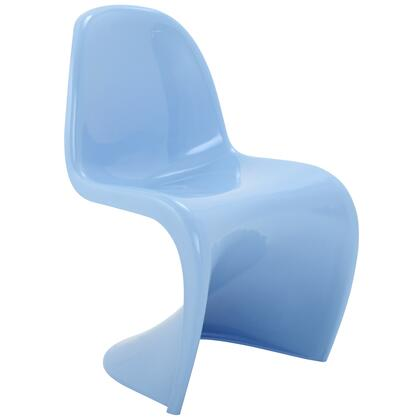 Modway EEI123BLU Slither Series Dining Not Upholstered Plastic Frame Accent Chair