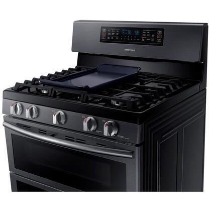 Samsung NX58K7850SG 30 Inch Gas Freestanding Range, in Black