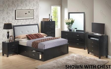 Glory Furniture G1250FQSB2DMNTV G1250 Queen Bedroom Sets