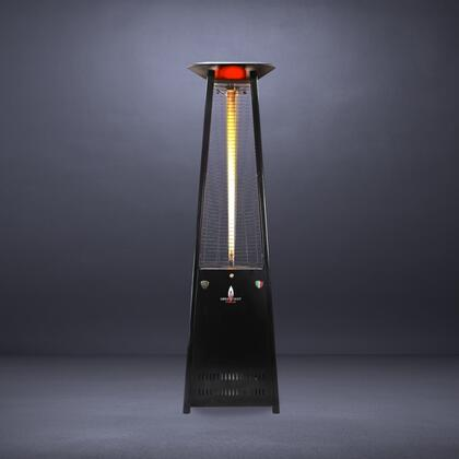 Lava Heat LHI Natural Gas Triangular 8 ft. Tall Commercial Flame Patio Heater with 56,000 BTU Power Rating, 5 Foot Heat Radius and Safety Tilt Switch