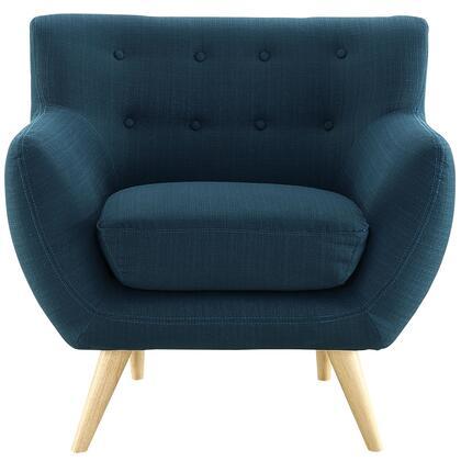Modway EEI1631AZU Remark Series Armchair Fabric Wood Frame Accent Chair