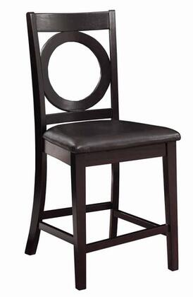 Powell 180430 Brigham Series Contemporary Bonded Leather Wood Frame Dining Room Chair
