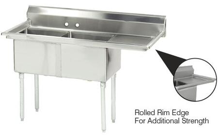 2 Compartment Sink   Right Side Drainboard