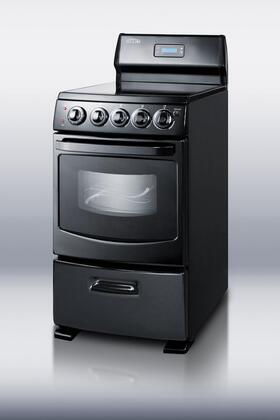 "Summit REX204BL Electric Smoothtop 20""4 No No Freestanding Range 
