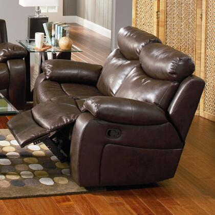 Coaster 600562 Denisa Series Bonded Leather Reclining with Wood Frame Loveseat